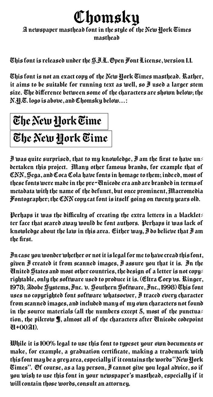 Chomsky Font poster