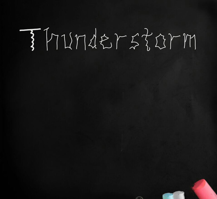 THUNDERSTORM Font poster