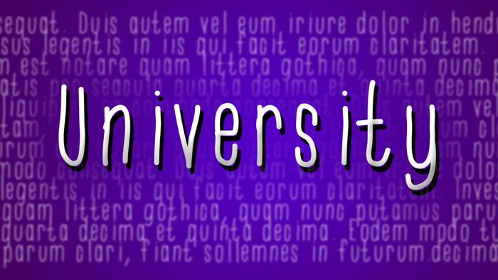 University Font poster