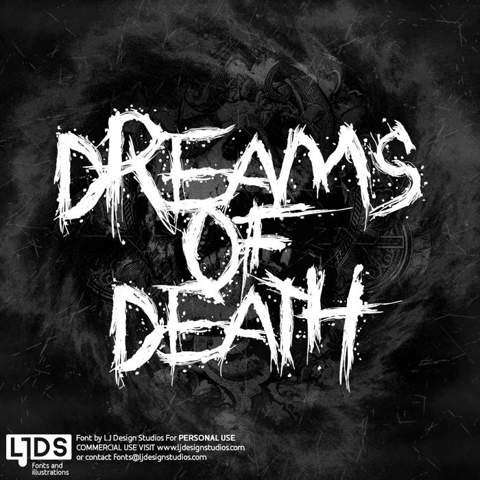 Dreams of Death Font poster