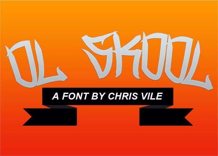Ol Skool Font poster