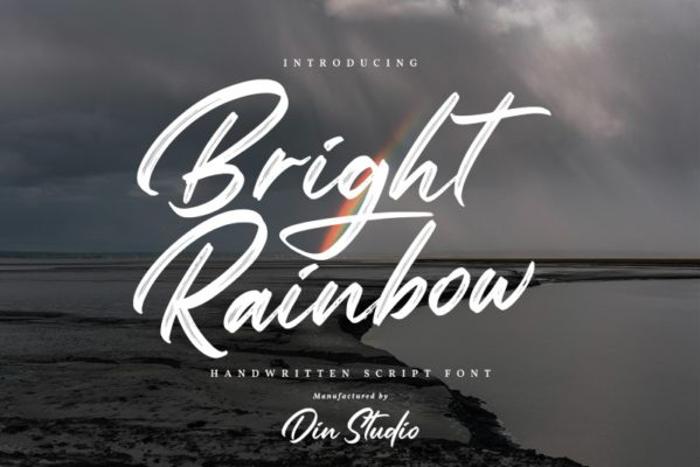 Bright Rainbow Font poster