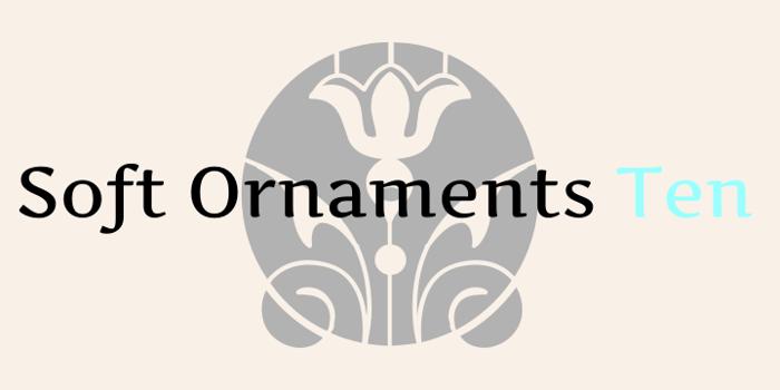 Soft Ornaments Ten Font poster