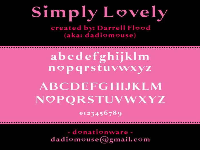 Simply Lovely Font poster