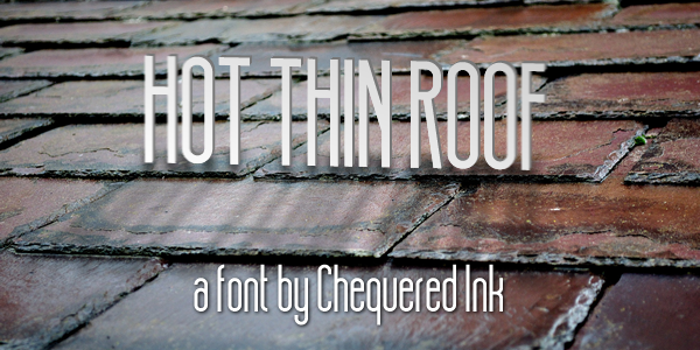 Hot Thin Roof Font poster