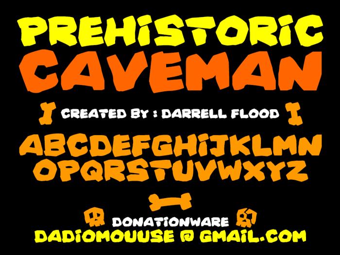 Prehistoric Caveman Font poster