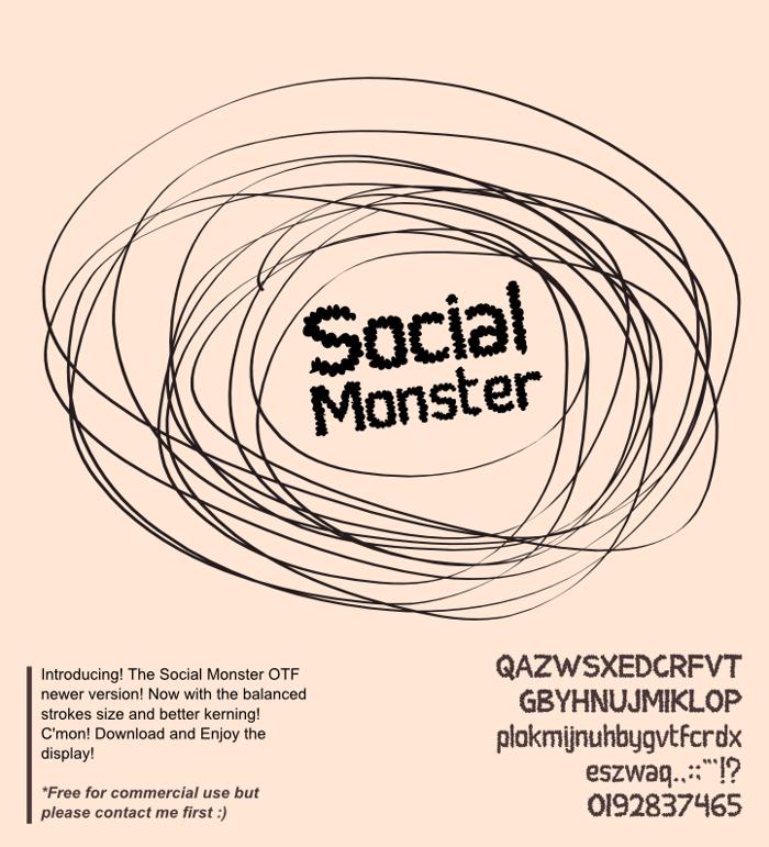 Social Monster Font poster
