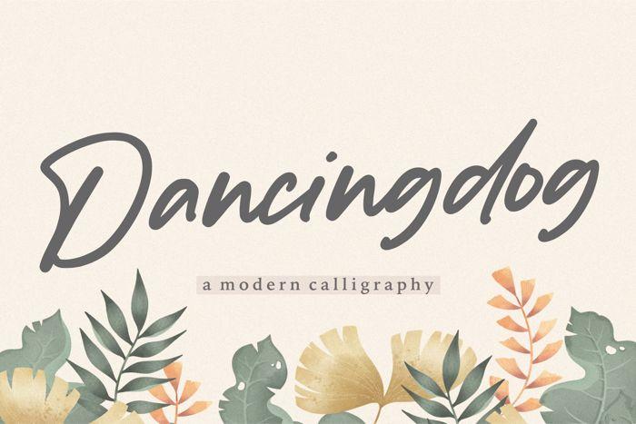 Dancingdog Font poster