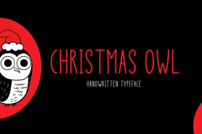 Christmas Owl Font poster