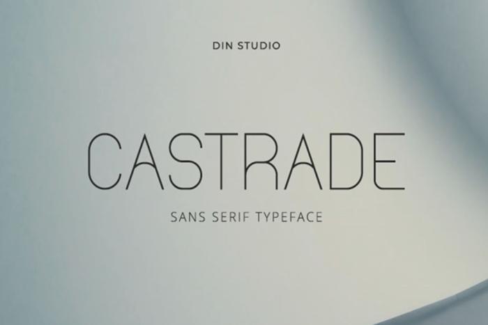 Castrade Font poster