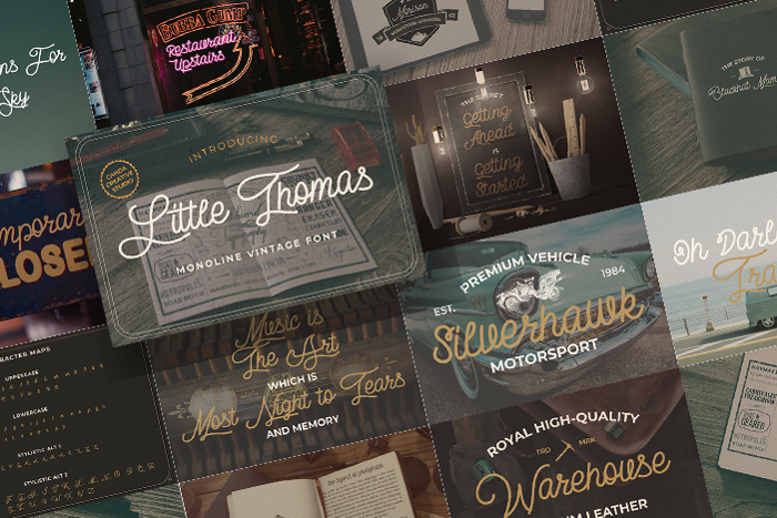 Little Thomas Font poster