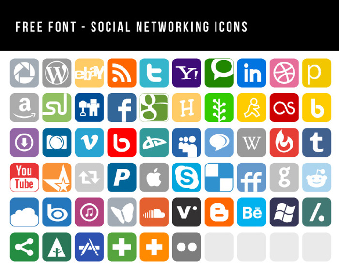 Social Networking Icons Font poster