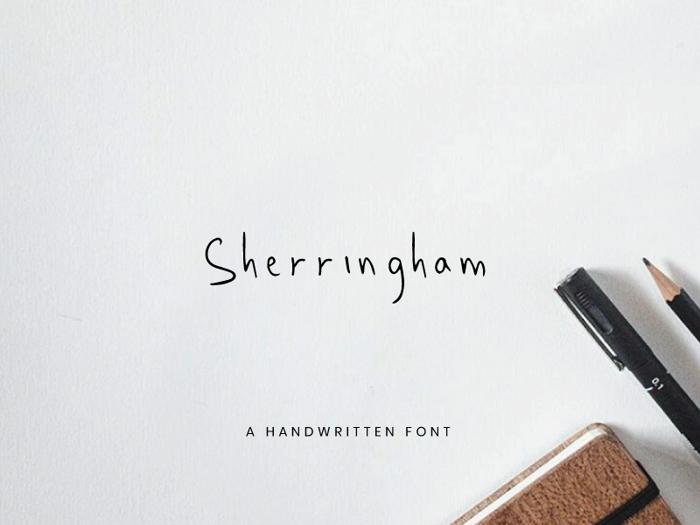 Sherringham Font poster