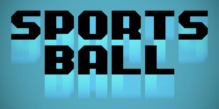 Sportsball Font poster