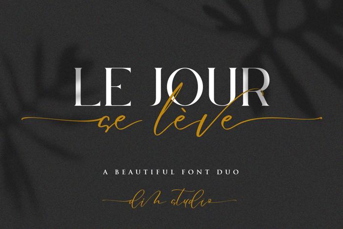 Le Jour Script Font poster