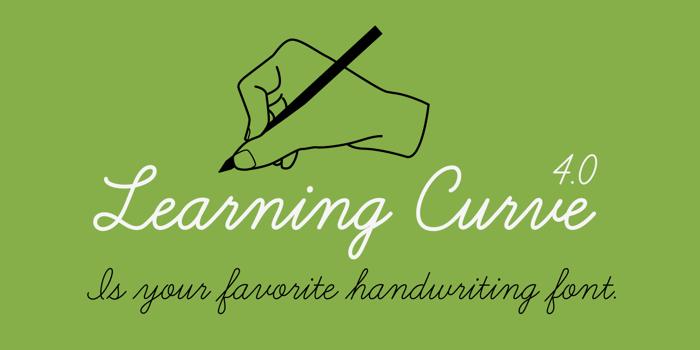 Learning Curve BV Font poster