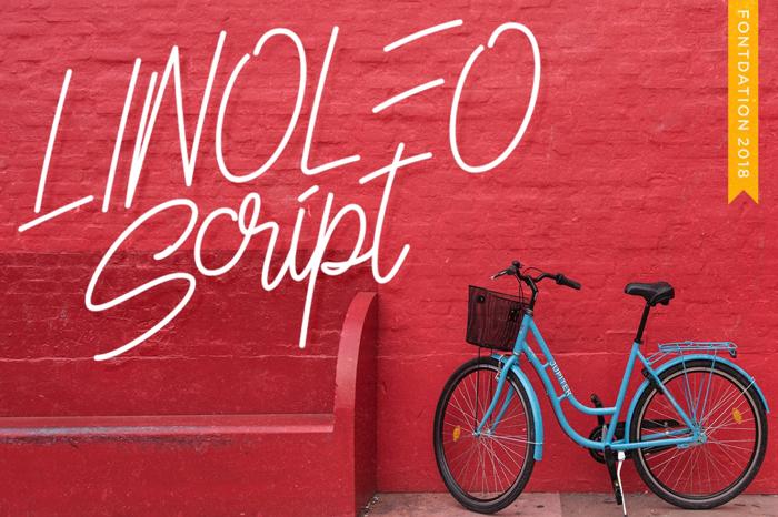 Linoleo Script Font poster