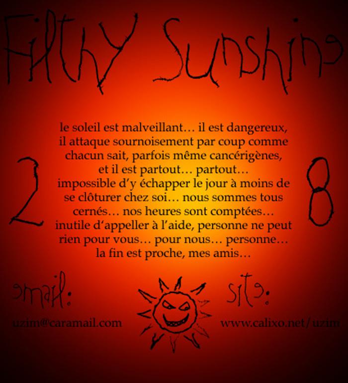 Filthy Sunshine Font poster