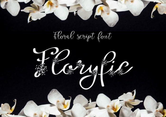 Floryfic Font poster