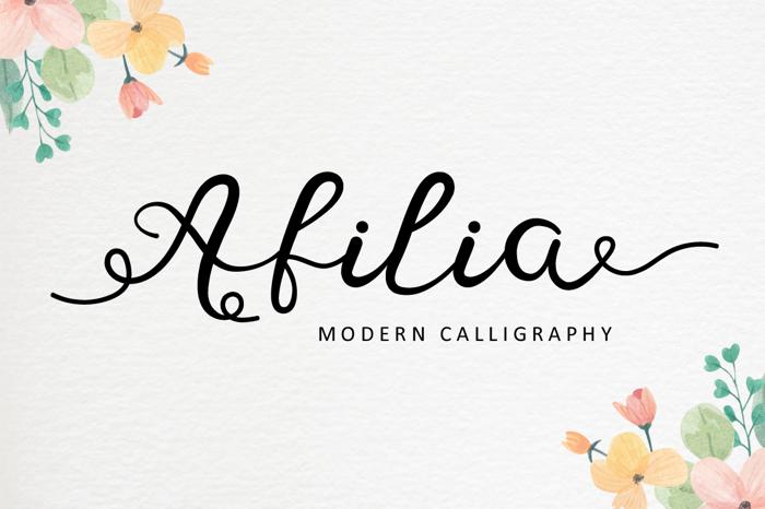 Afilia Font poster