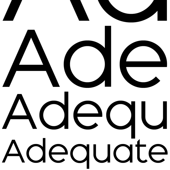 Adequate Font poster