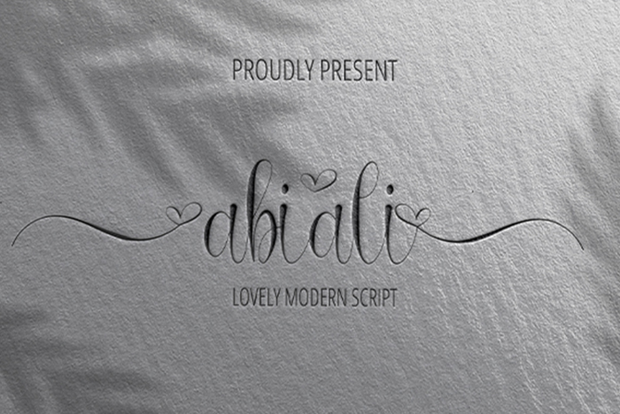 Abiali Font poster