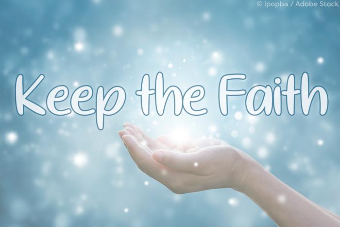 Keep the Faith Font poster
