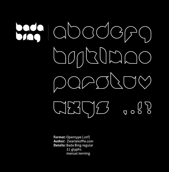 Badabing Font poster