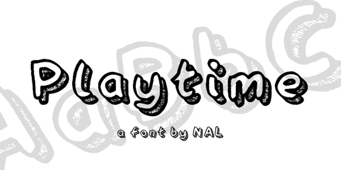 Playtime Font poster