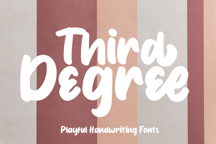 Third Degree Font poster