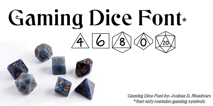 GamingDice Font poster