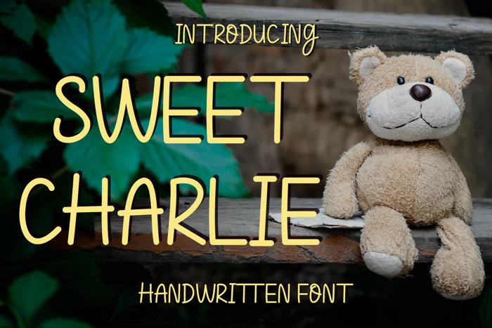 Sweet Charlie Font poster