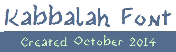 Kabbalah Font poster