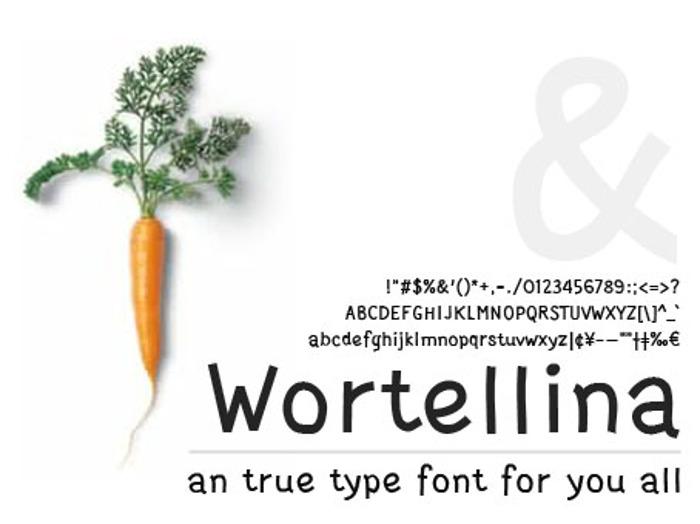 Wortellina Font poster