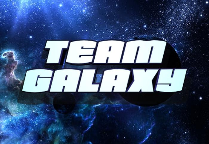Team Galaxy Font poster