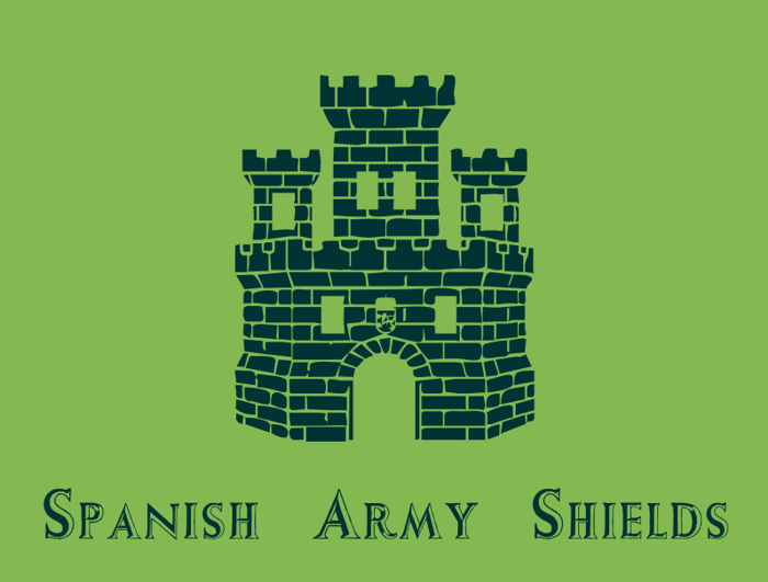 Spanish Army Shields Font poster