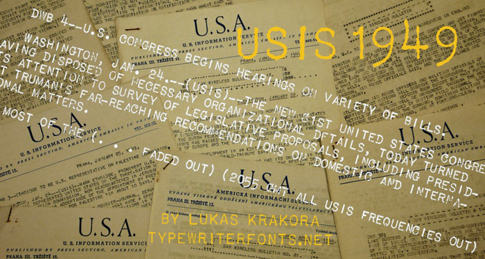 USIS 1949 Font poster