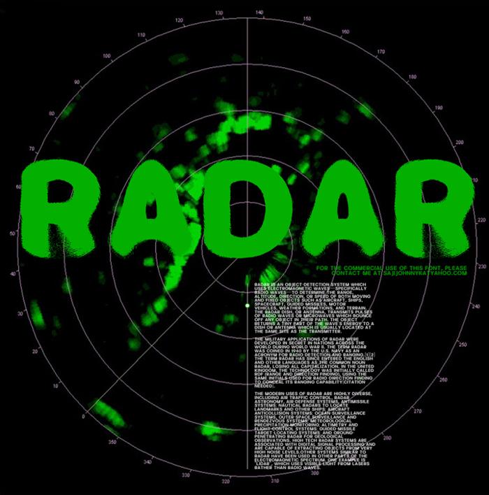 RADAR Font poster