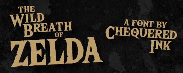 The Wild Breath of Zelda Font poster