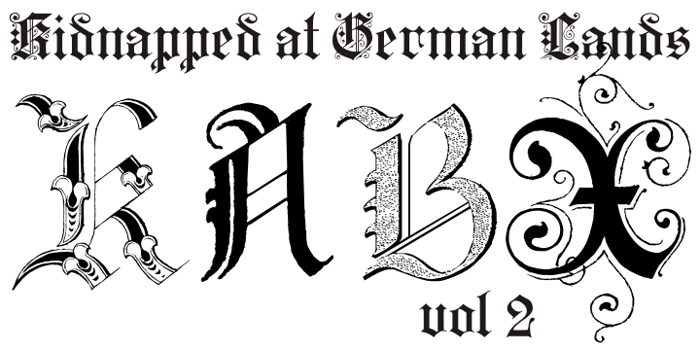 Kidnapped at German Lands Two Font poster