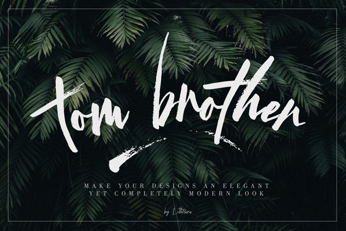 tom brother Font poster