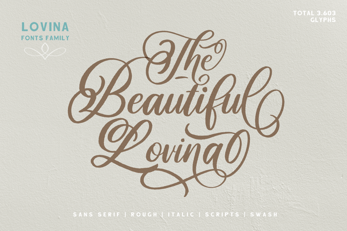 Beautiful Lovina Font poster
