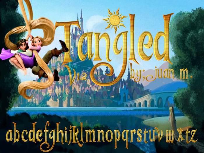 Tangled v1.2 Font poster