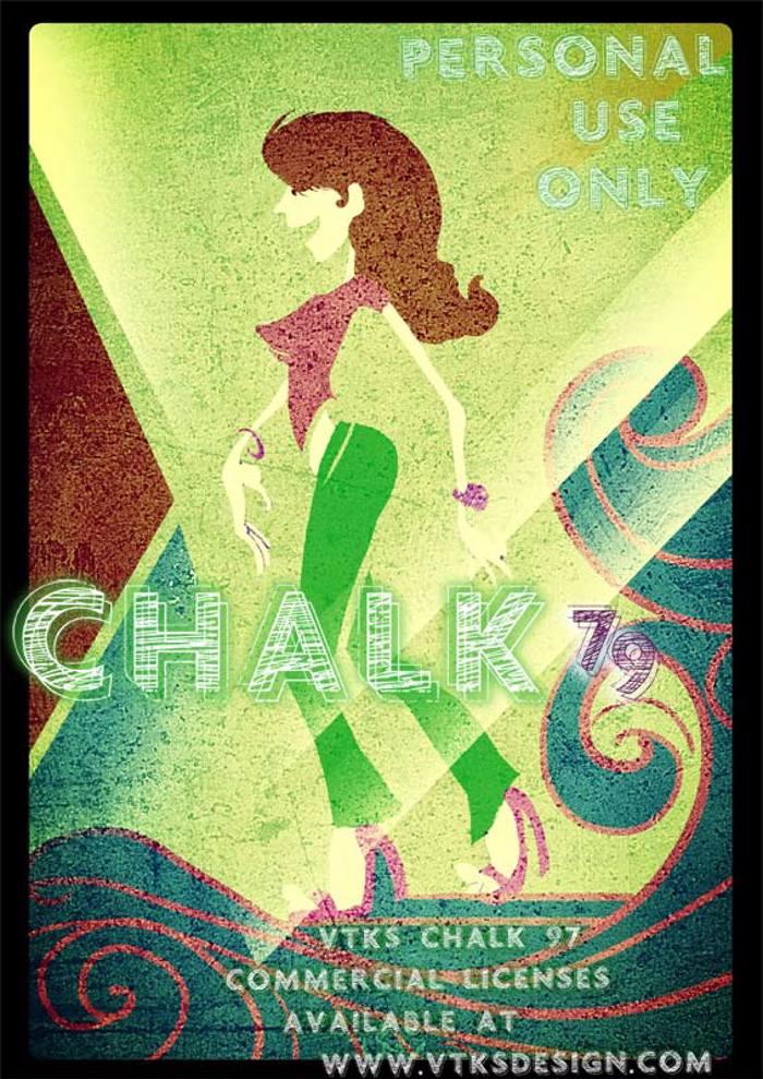 vtks chalk 79 Font poster
