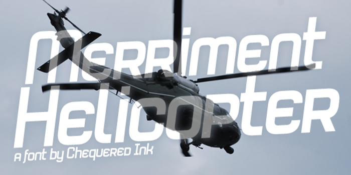 Merriment Helicopter Font poster