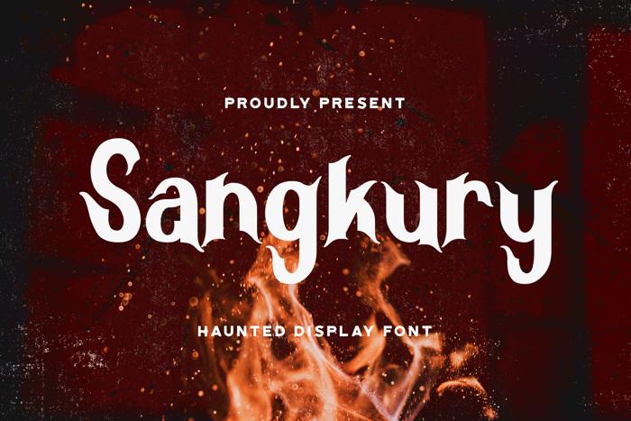 Sangkury Font poster