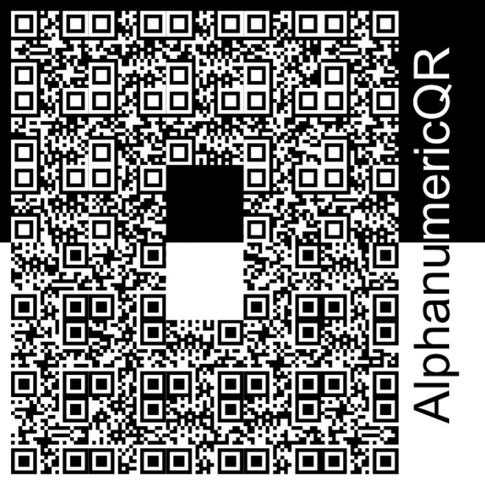 AlphanumericQR Font poster