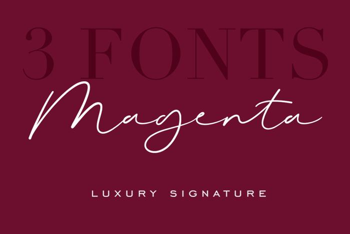 Magenta Font poster