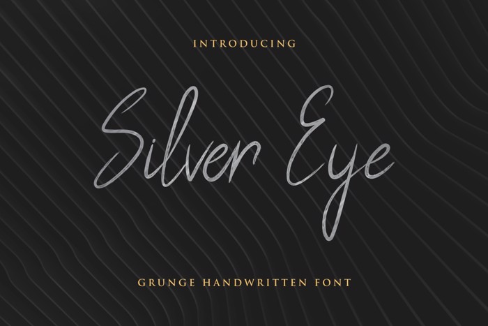Silver Eye Font poster