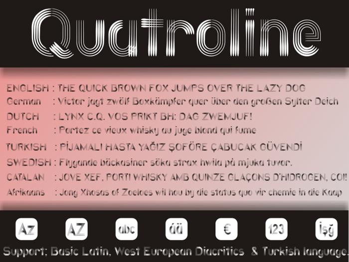 Quatroline Font poster